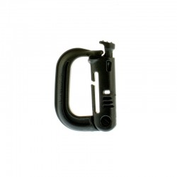 Klamra ITW Nexus Grimloc locking Dee-ring Black