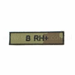 Naszywka nametag grupa krwi B Rh+ wz93