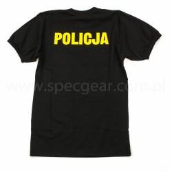 T-shirt czarny żółty napis Altex Fashion Policja