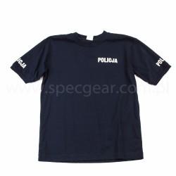 T-shirt granatowy Altex Fashion Policja męski