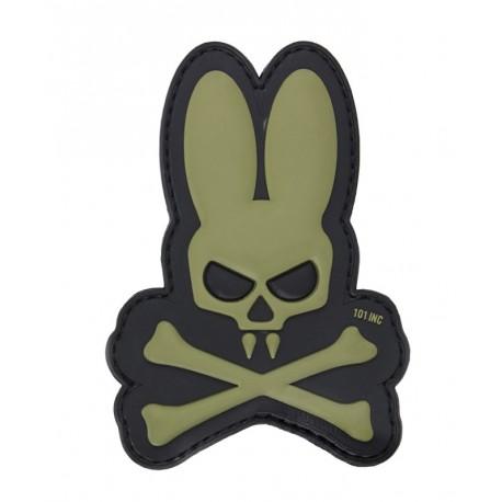 Naszywka 3D Skull Bunny Olive