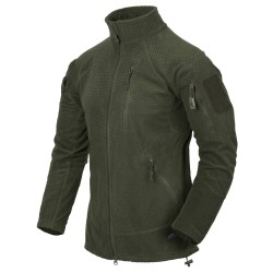 Polar Helikon-Tex Alpha Tactical Grid Fleece Jacket olive green