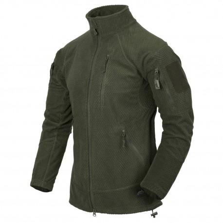 Polar Helikon-Tex Alpha Tactical Grid Fleece Jacket olive green