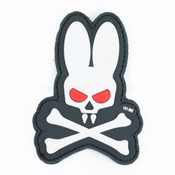 Naszywka 3D Skull Bunny white