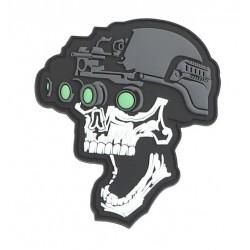 Naszywka 3D Night Vision Skull white