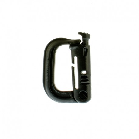 Klamra ITW Nexus Grimloc locking Dee-ring Black