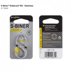 Nite Ize S-Biner 2 Slide Lock Stalowy LSB2-11-R3