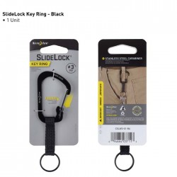 Nite Ize SlideLock Key Ring 3 Czarny CSLW3-01-R6