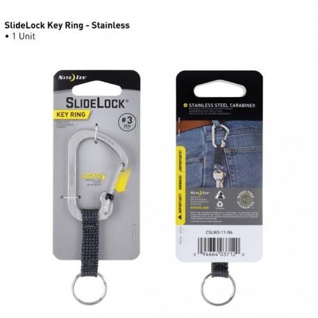 Nite Ize SlideLock Key Ring #3 Stalowy CSLW3-11-R6