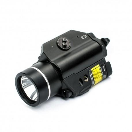 Latarka taktyczna TL-Q5-RL z diodą Cree Q5 czerwony laser