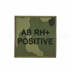 Naszywka grupa krwi AB Rh Pos wz93 94x94mm