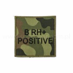 Naszywka grupa krwi B Rh Pos wz93 94x94mm