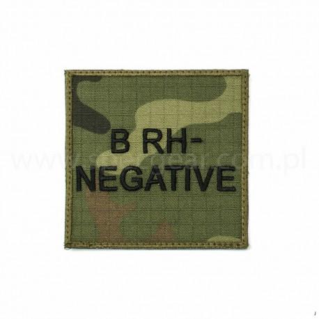 Naszywka grupa krwi B Rh Neg wz93 94x94mm