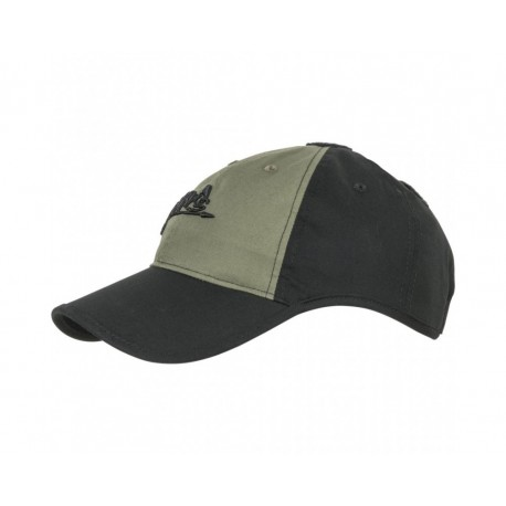Czapka Helikon-Tex Logo Cap Czarna/Olive Green