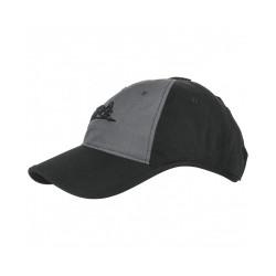 Czapka Helikon-Tex Logo Cap Czarna/Shadow Grey