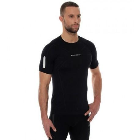 Koszulka Brubeck Athletic męska krótki rękaw czarna SS11090
