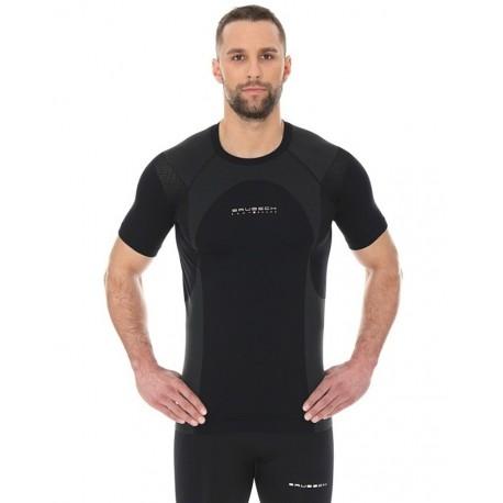 Koszulka Brubeck Dynamic Outdoor męska krótki rękaw czarna SS12510