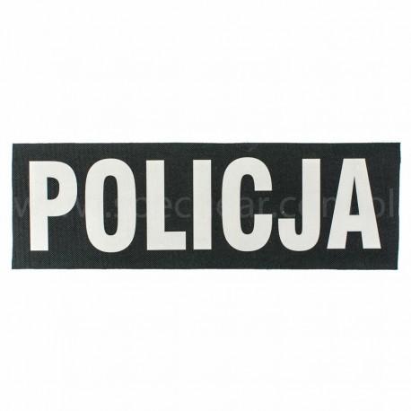 Naszywka rzep odblask policja duży