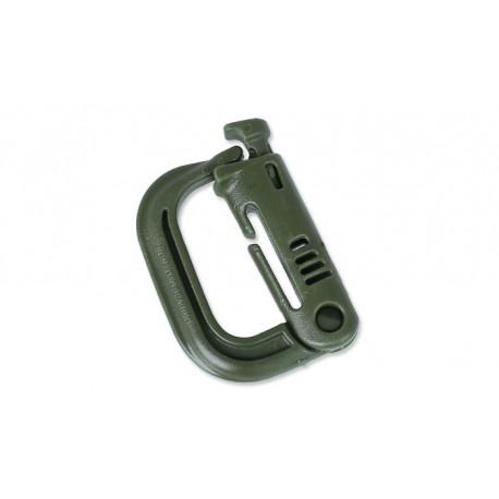 Klamra ITW Nexus Grimloc locking Dee-ring Olive