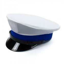 Pokrowiec biały na czapkę Policja czysty