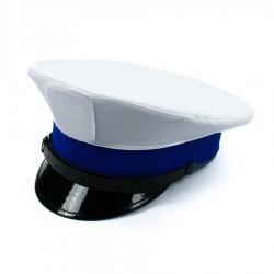 Pokrowiec biały na czapkę Policja z rzepem