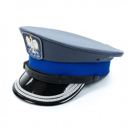 Czapka gabardynowa Policja Sylmiet starszy oficer