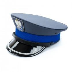 Czapka gabardynowa Policja Sylmiet młodszy oficer