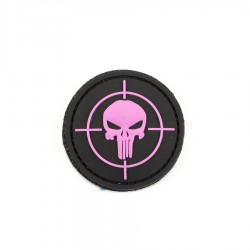 Naszywka 3D Punisher sight pink