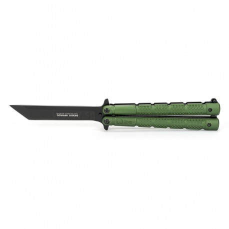 Nóż Motylek K25 Titanium Coated 36249 oliwkowy z pokrowcem
