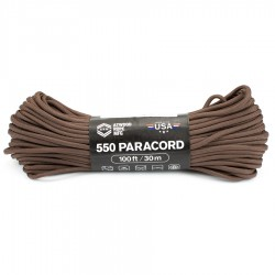 Linka Paracord Atwood Rope MFG 550 US Brown 100ft