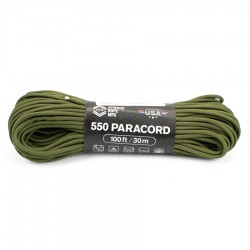 Linka Paracord Atwood Rope MFG 550 Olive Drab 100ft