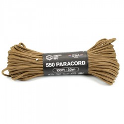 Linka Paracord Atwood Rope MFG 550 Coyote 100ft