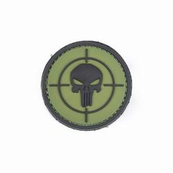 Naszywka 3D Punisher sight green